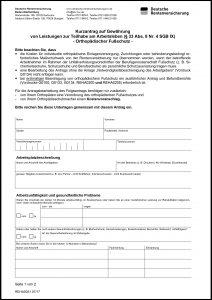Kirndorfer Gesunde Schuhe Formular Folgeantrag